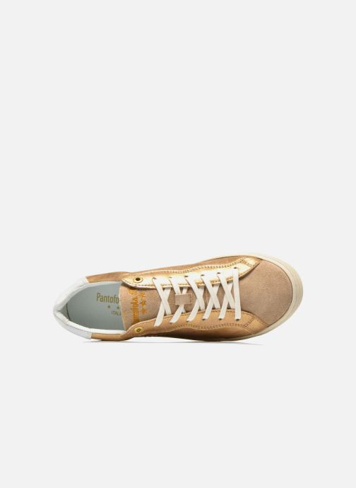 Trainers Pantofola d'Oro Gianna Low Ladies Bronze and Gold view from the left
