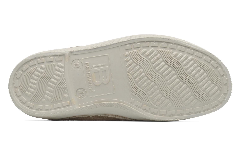 Sneakers Bensimon Tennis New Banner E Beige bild från ovan