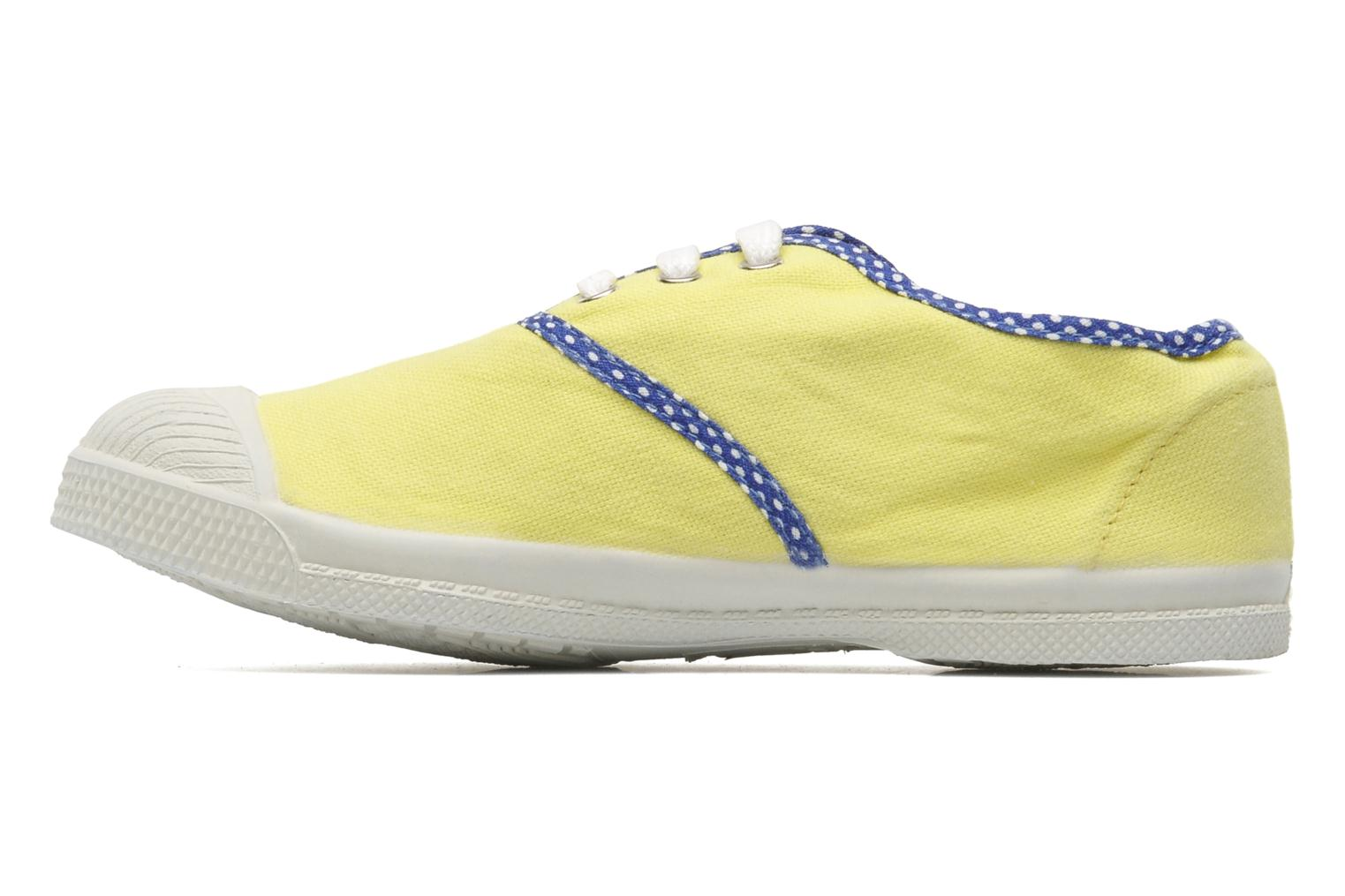 Baskets Bensimon Tennis Colorpois E Jaune vue face