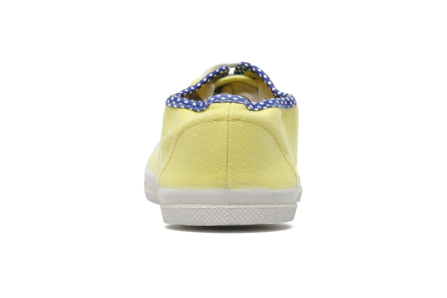 Baskets Bensimon Tennis Colorpois E Jaune vue droite