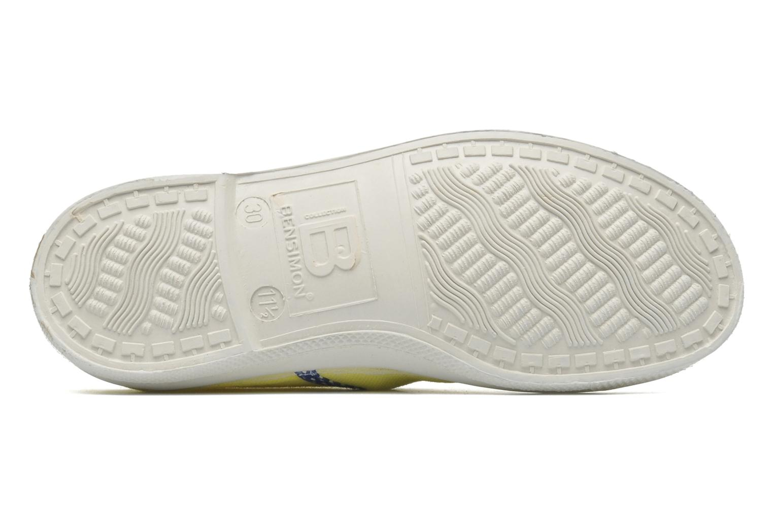 Baskets Bensimon Tennis Colorpois E Jaune vue haut