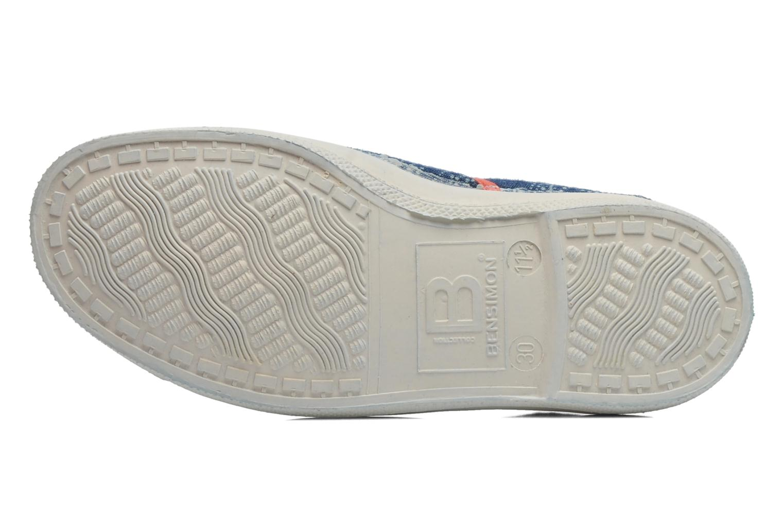 Trainers Bensimon Tennis Bandanas E Blue view from above