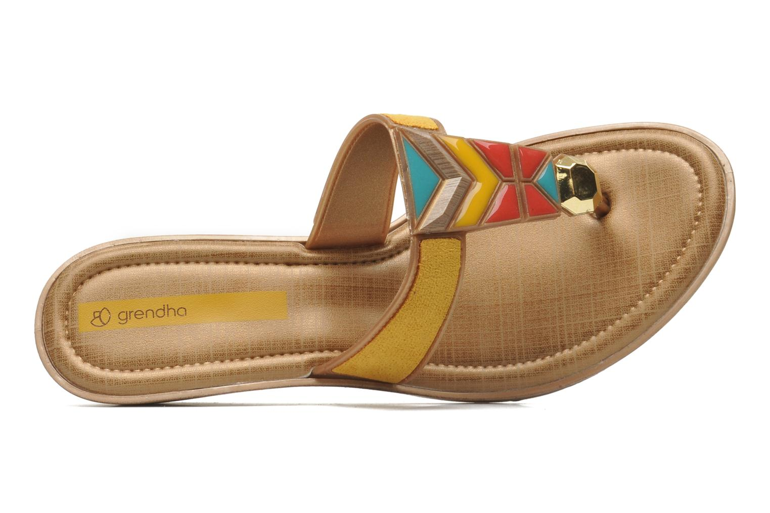 Flip flops Grendha Tesouros Wedge Yellow view from the left