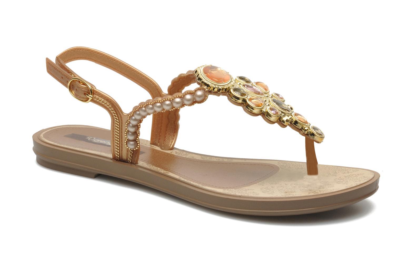 Sandaler Grendha Madreperola Sand Guld og bronze detaljeret billede af skoene