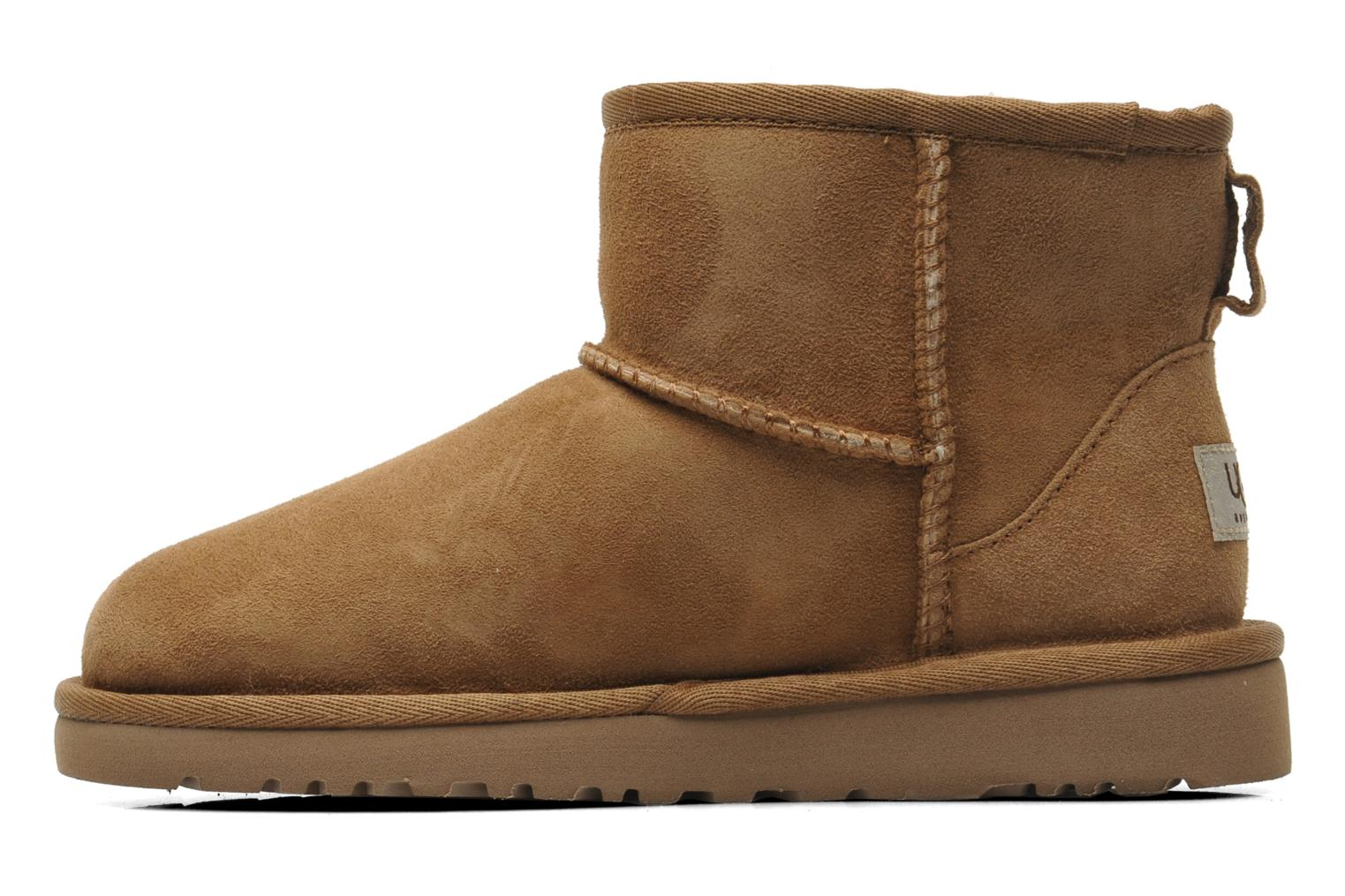 Bottines et boots UGG K CLASSIC MINI Beige vue face