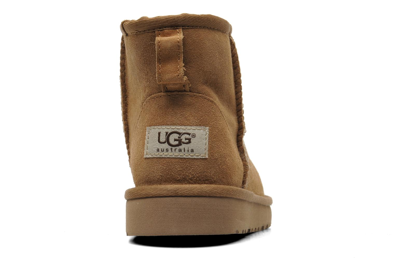 Ankle boots UGG K CLASSIC MINI Beige view from the right