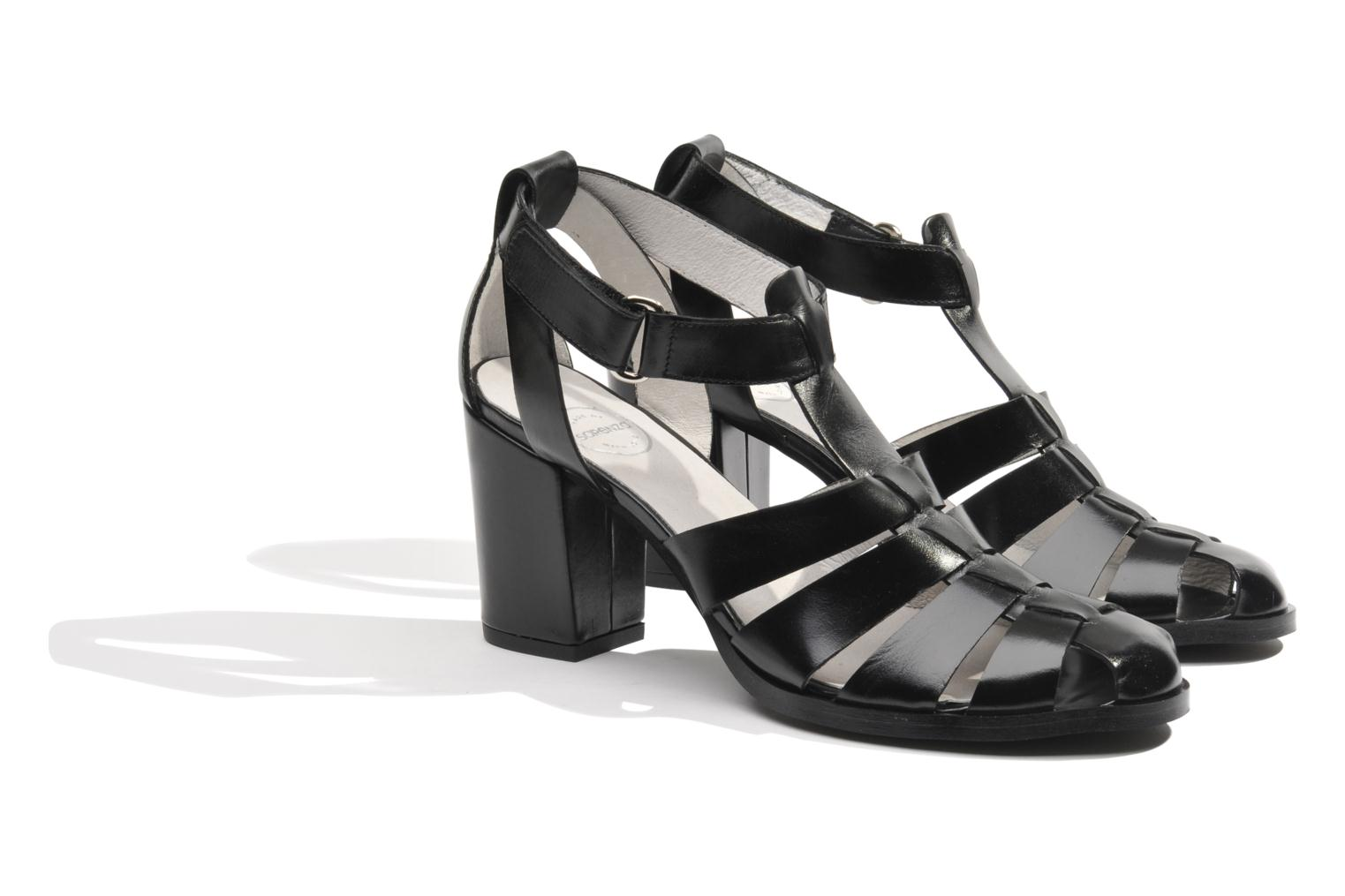 Sandals Made by SARENZA Menthe Hello #2 Black back view