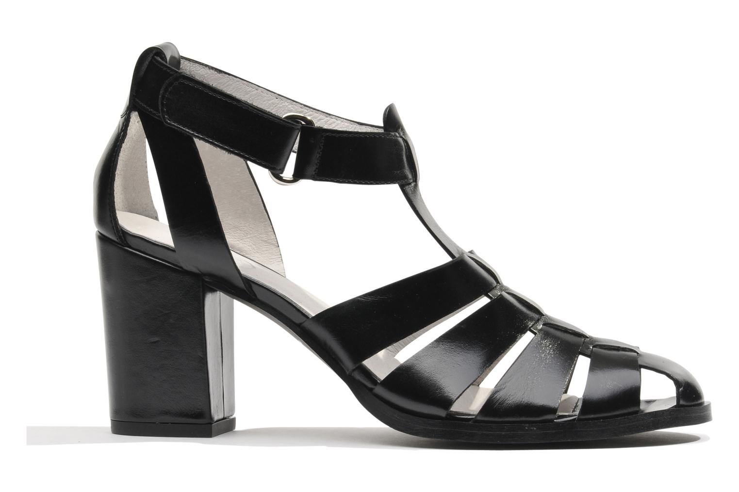 Sandals Made by SARENZA Menthe Hello #2 Black detailed view/ Pair view