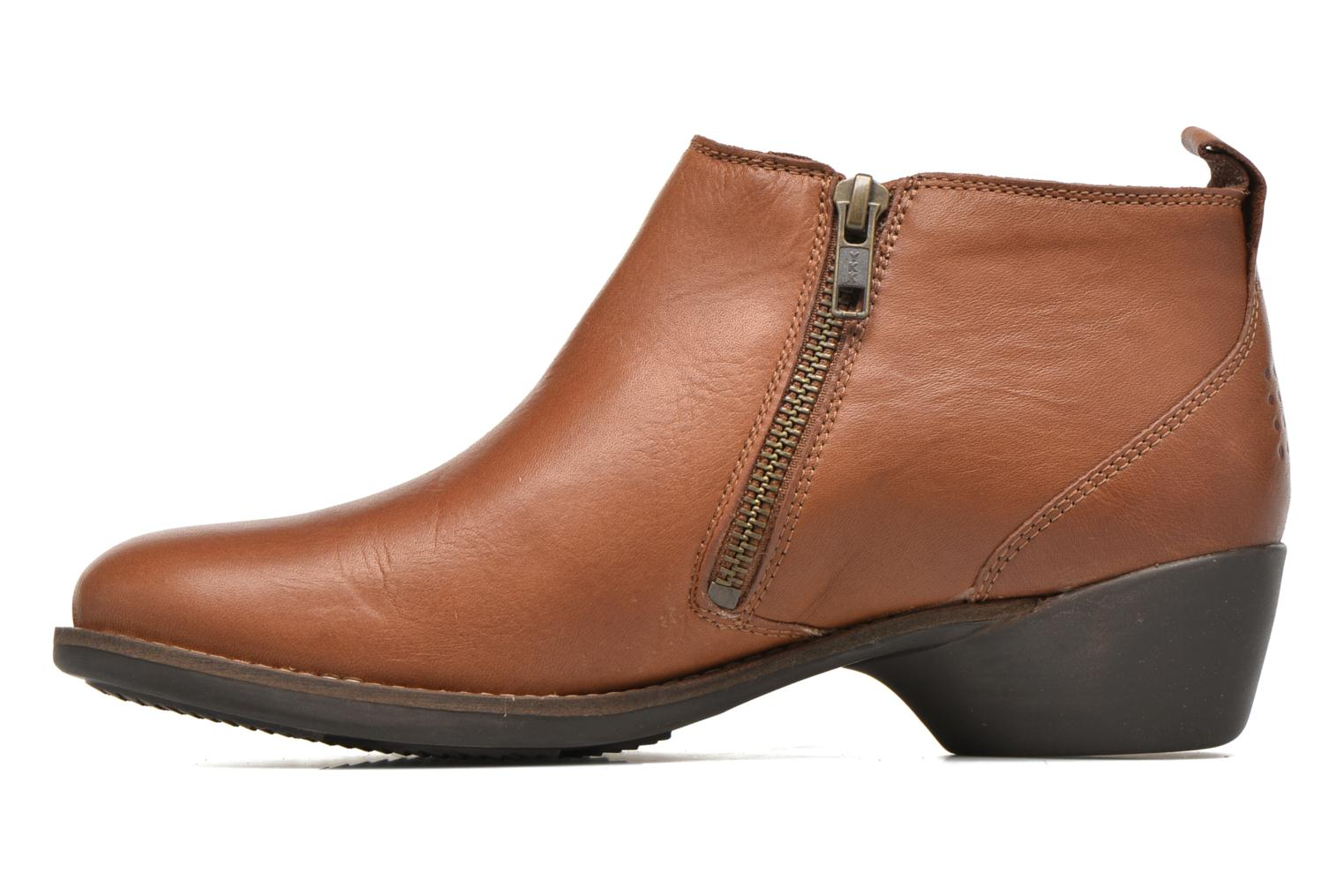 Ankle boots TBS Girlye Brown front view