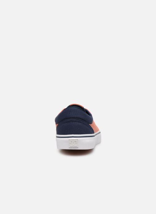 Baskets DC Shoes Trase Tx Orange vue droite