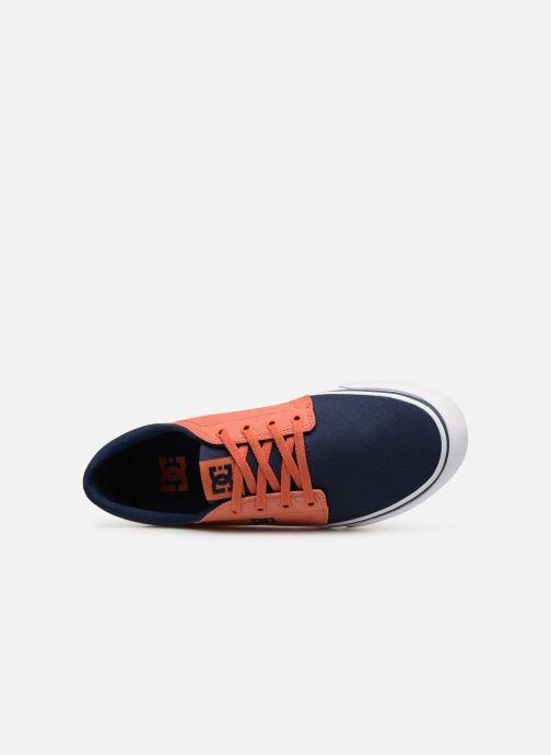 Baskets DC Shoes Trase Tx Orange vue gauche