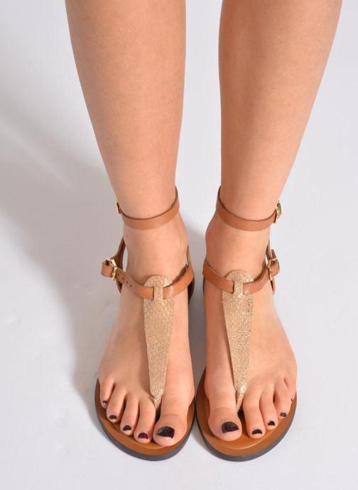 Sandales et nu-pieds Aldo Montecucco Or et bronze vue bas / vue portée sac