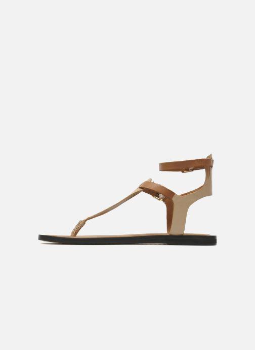 Sandales et nu-pieds Aldo Montecucco Or et bronze vue face