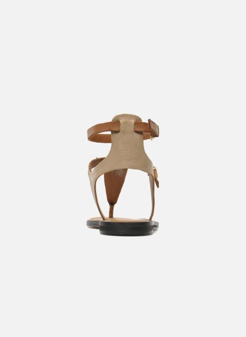 Sandales et nu-pieds Aldo Montecucco Or et bronze vue droite