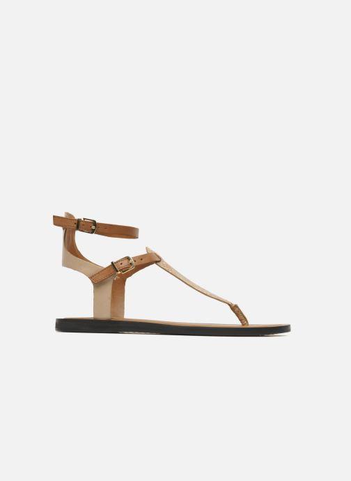 Sandales et nu-pieds Aldo Montecucco Or et bronze vue derrière