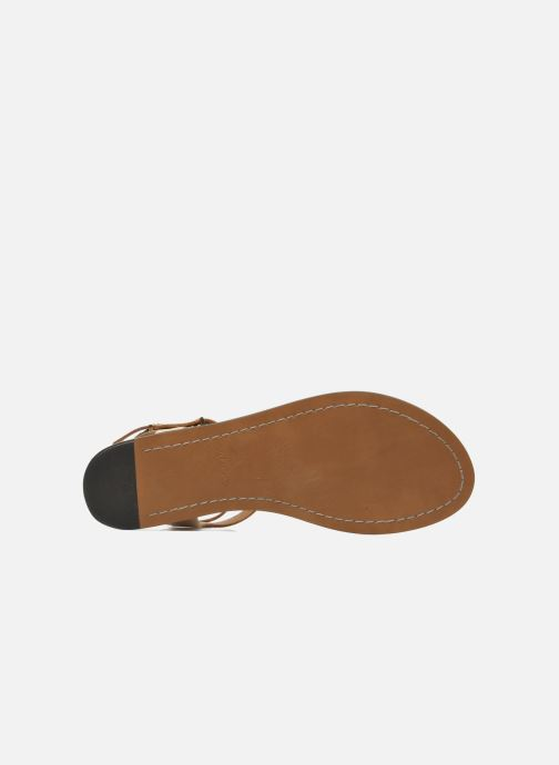 Sandales et nu-pieds Aldo Montecucco Or et bronze vue haut