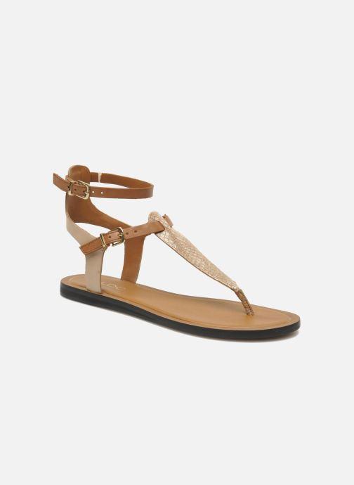 Sandales et nu-pieds Aldo Montecucco Or et bronze vue détail/paire