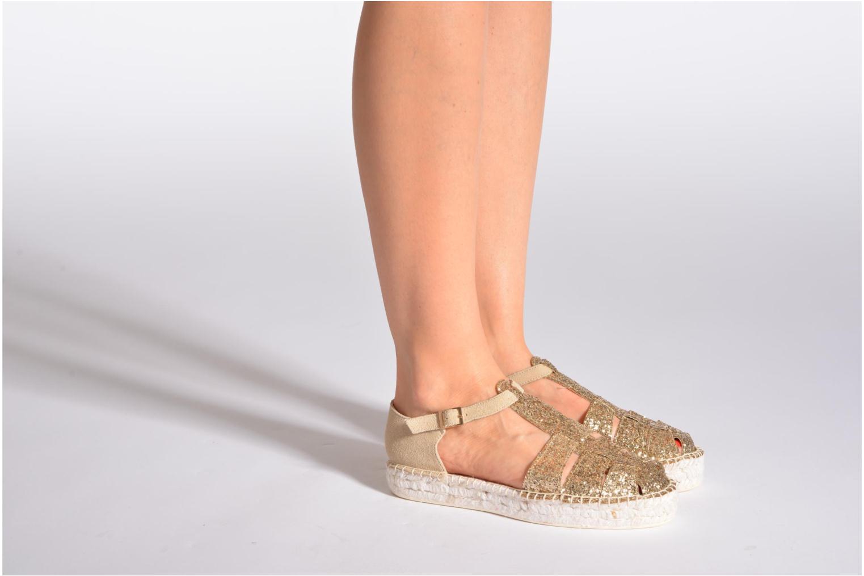 Sandales et nu-pieds Aldo Padgham Or et bronze vue bas / vue portée sac