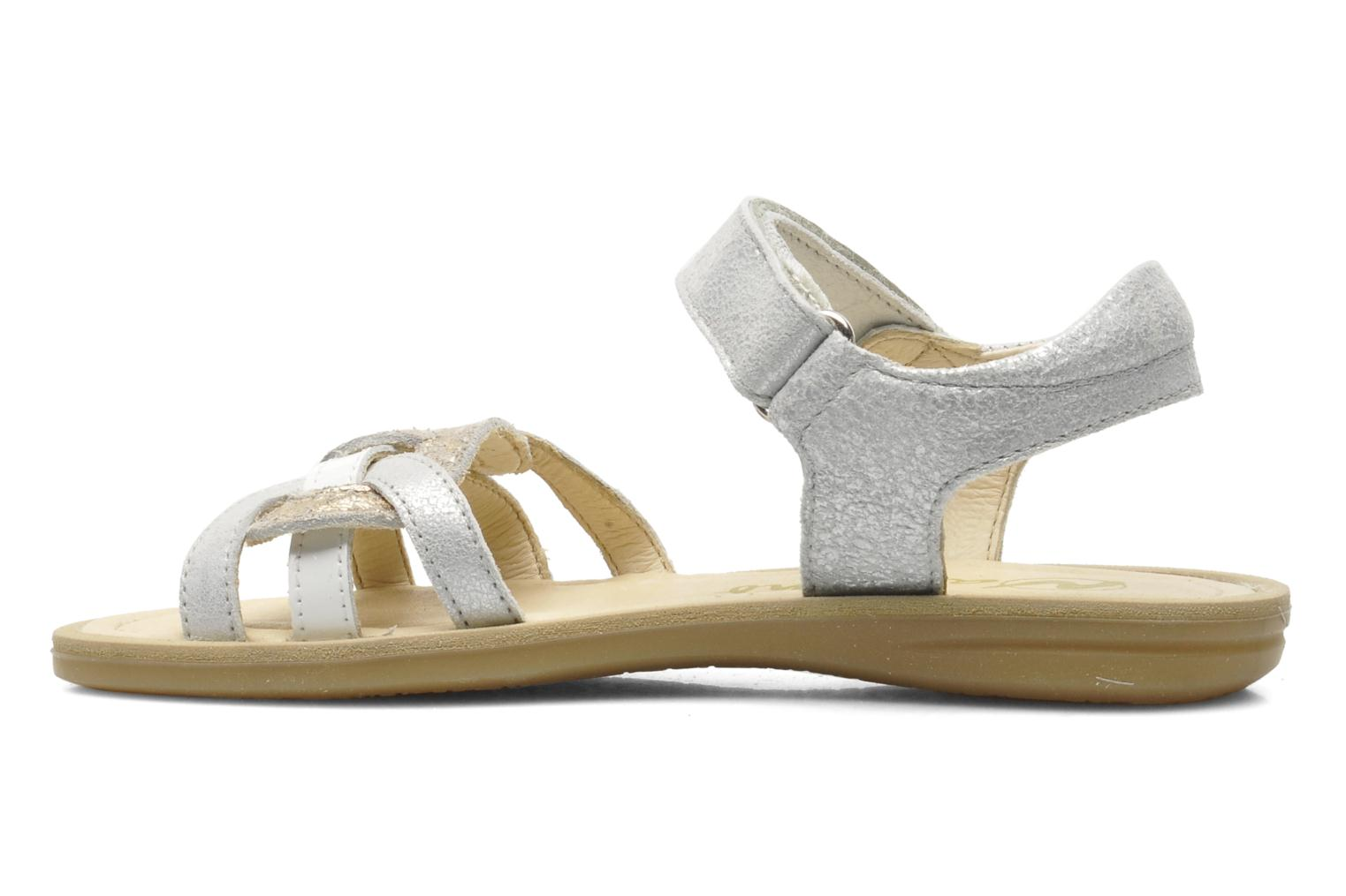 Sandals Naturino SARA 3952 Silver front view