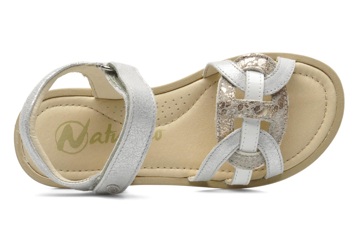 Sandals Naturino SARA 3952 Silver view from the left
