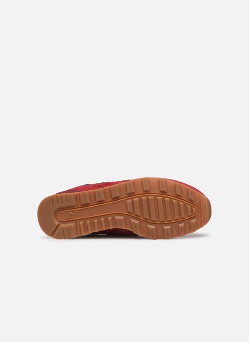 Baskets New Balance WL996 Rouge vue haut