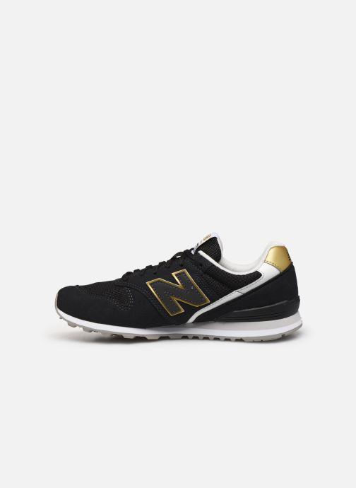 Sneaker New Balance WL996 schwarz ansicht von vorne