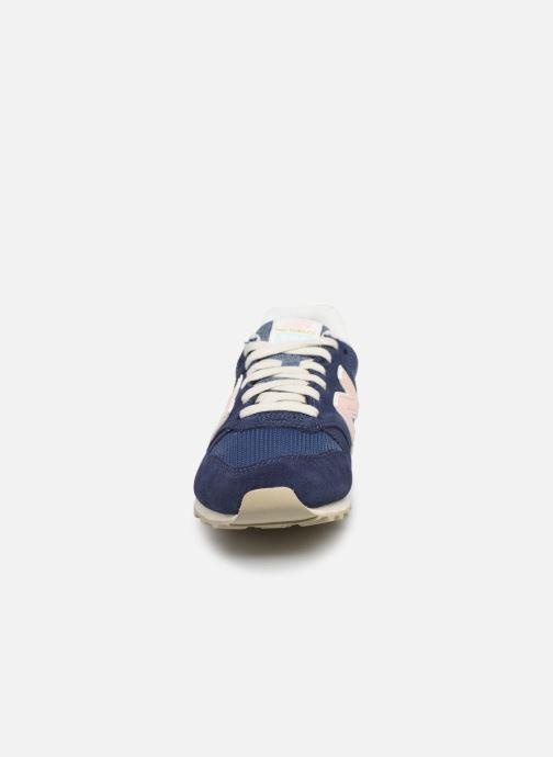 Baskets New Balance WL996 Bleu vue portées chaussures