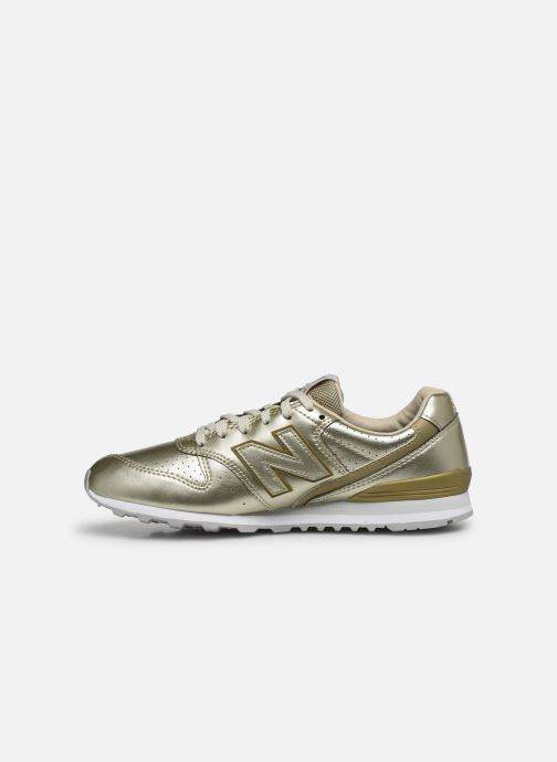 Baskets New Balance WL996 Or et bronze vue face