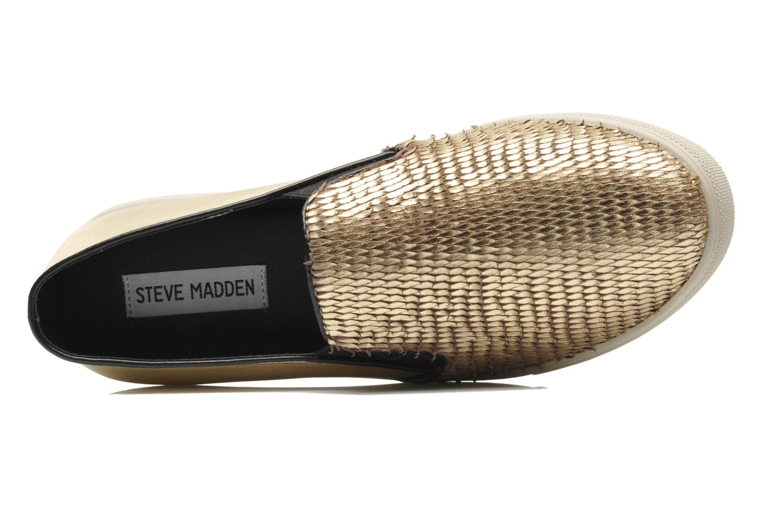 Trainers Steve Madden ECENTRICG Bronze and Gold view from the left