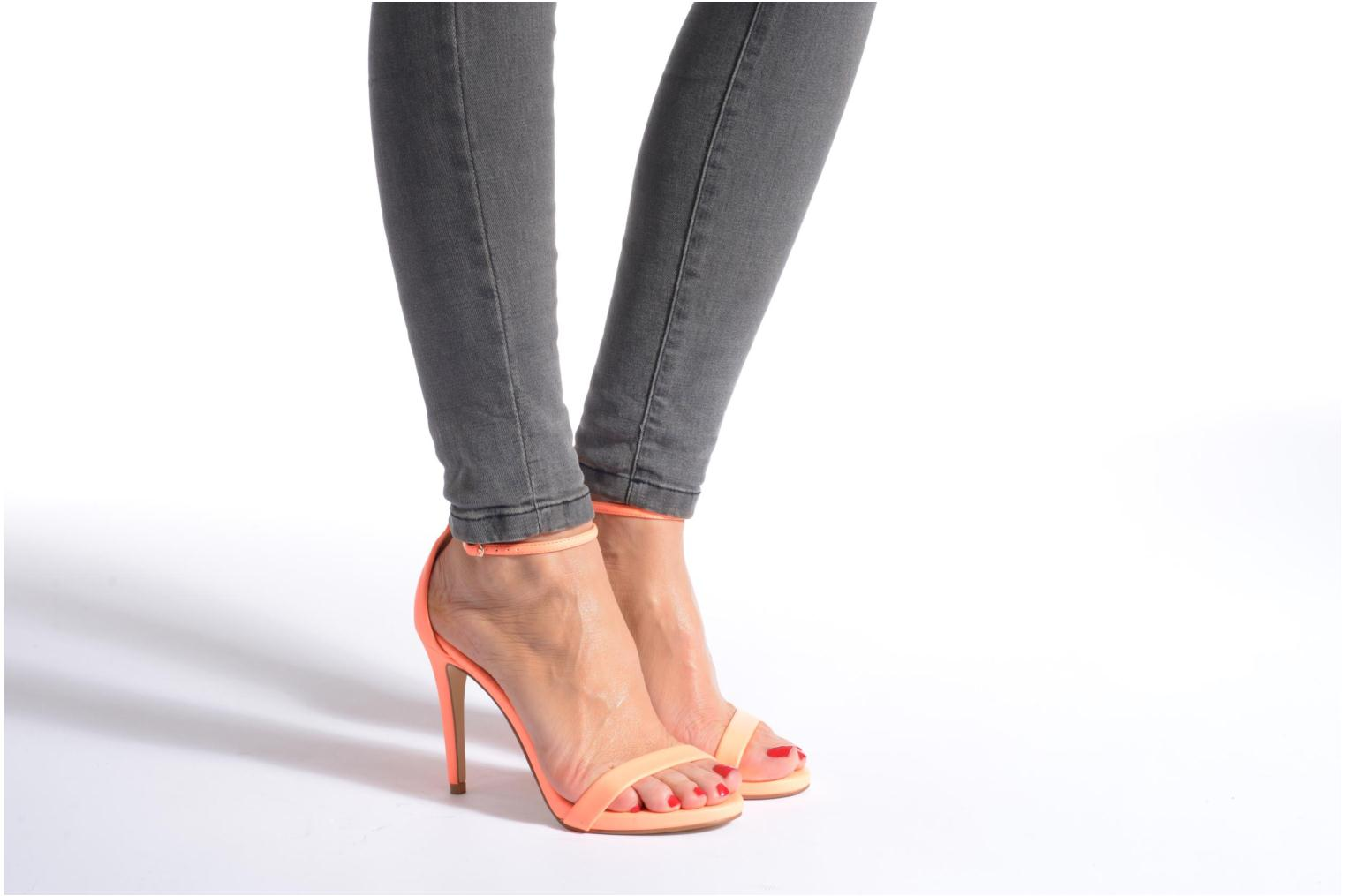 Sandals Steve Madden Stecy Sandal Orange view from underneath / model view