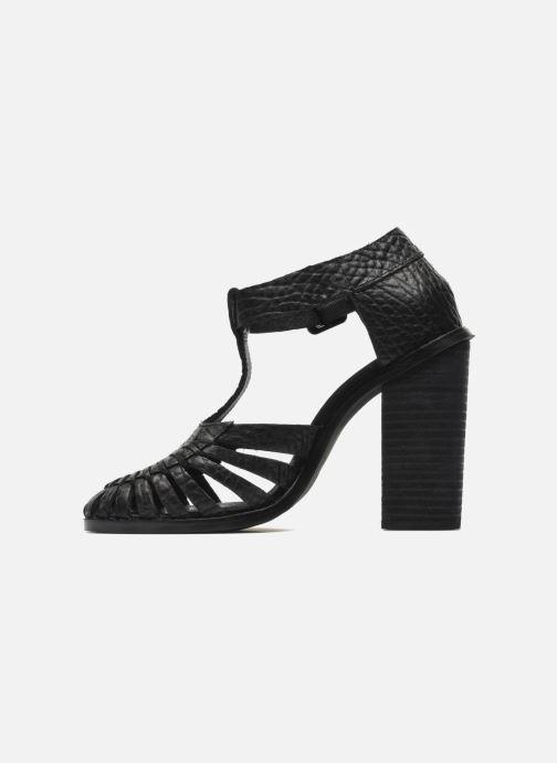 Sandales et nu-pieds Intentionally blank Tilted Noir vue face