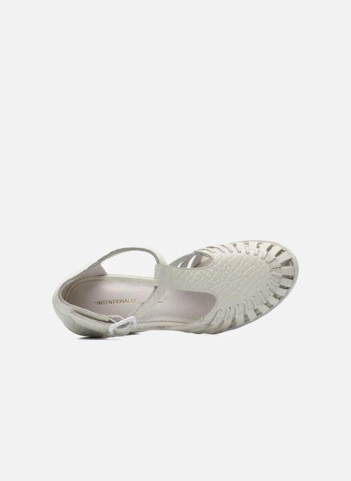 Sandales et nu-pieds Intentionally blank Tilted Blanc vue gauche