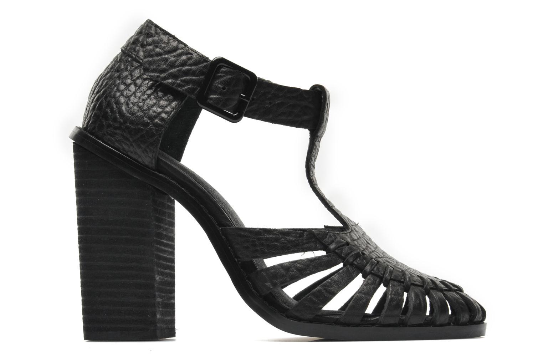 Sandales et nu-pieds Intentionally blank Tilted Noir vue derrière