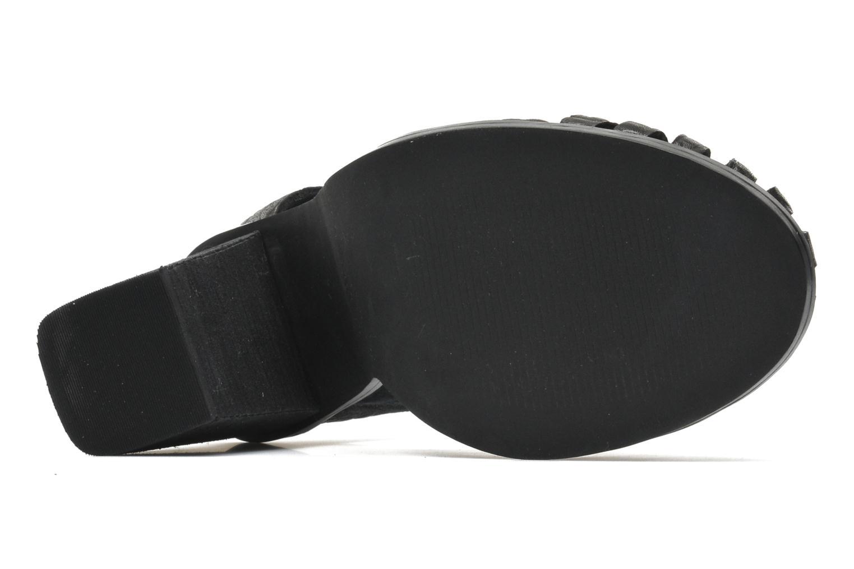Sandales et nu-pieds Intentionally blank Tilted Noir vue haut