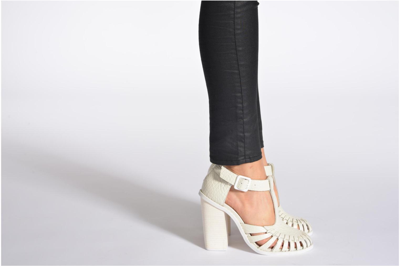 Sandales et nu-pieds Intentionally blank Tilted Blanc vue bas / vue portée sac