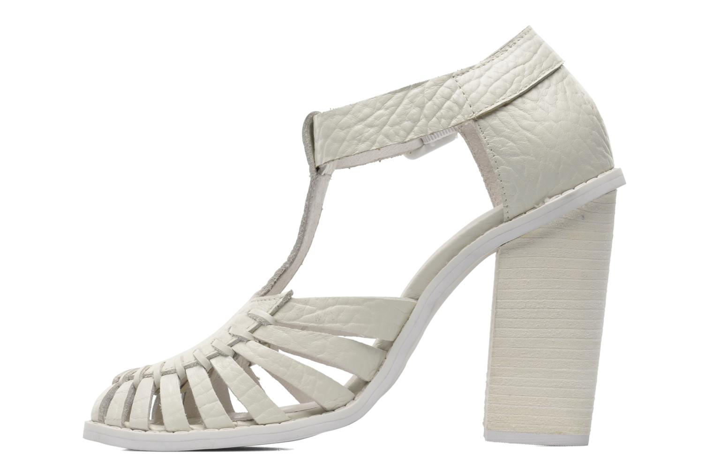 Sandales et nu-pieds Intentionally blank Tilted Blanc vue face