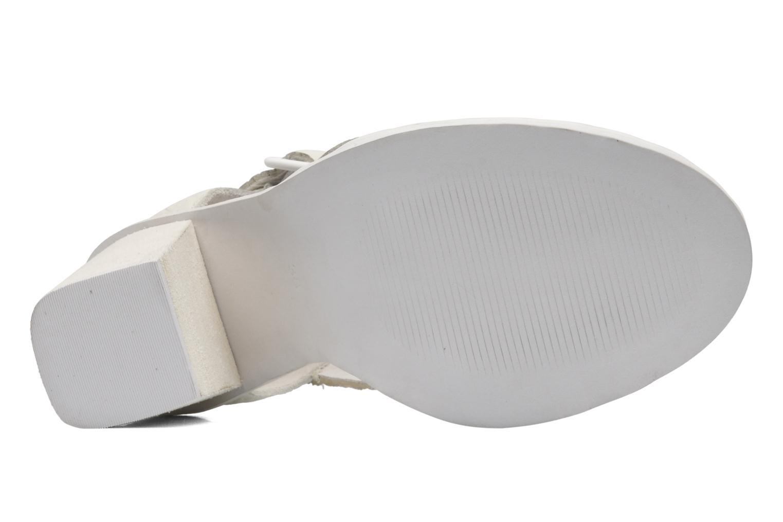 Sandales et nu-pieds Intentionally blank Tilted Blanc vue haut