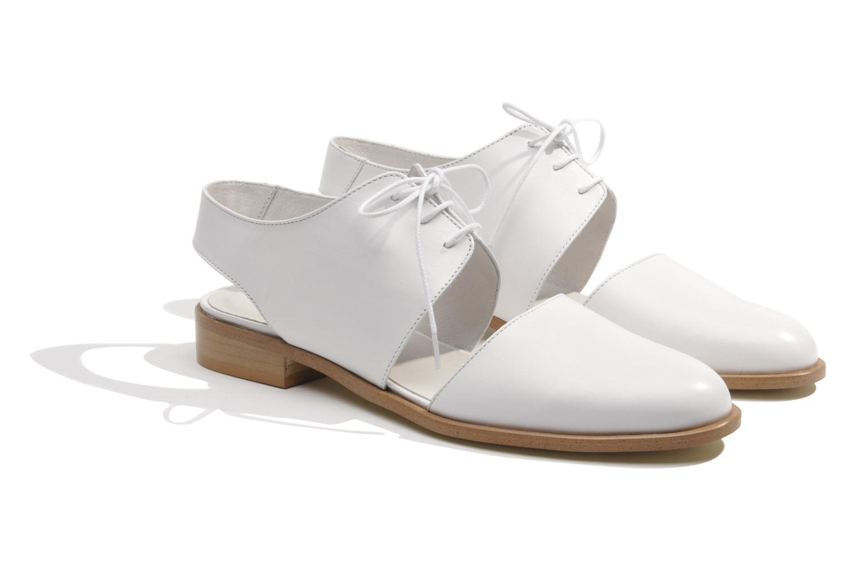 Chaussures à lacets Made by SARENZA Parasols de Paris #1 Blanc vue derrière