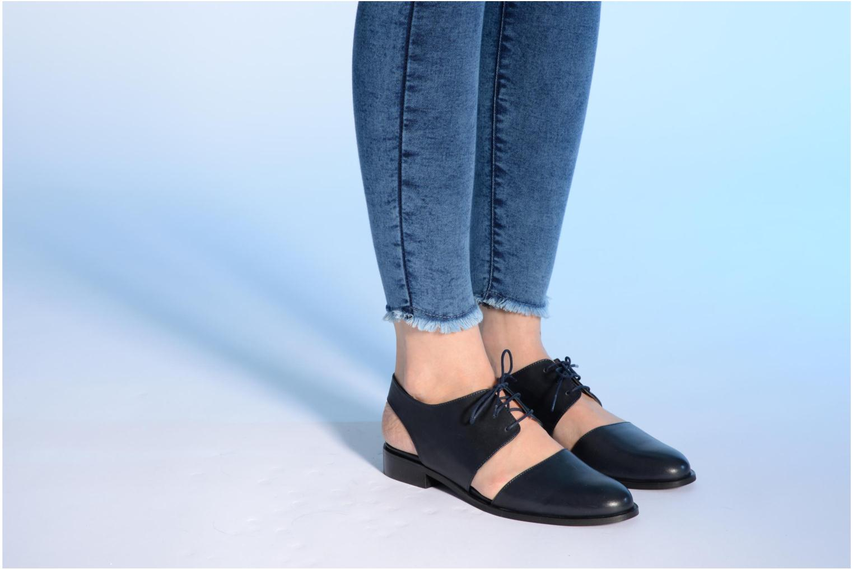 Chaussures à lacets Made by SARENZA Parasols de Paris #1 Bleu vue bas / vue portée sac