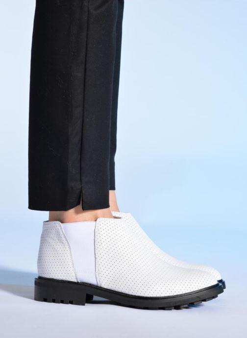 Stiefeletten & Boots Made by SARENZA Queen of pétanque #2 weiß ansicht von unten / tasche getragen