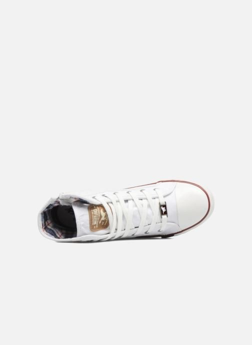 Baskets Mustang shoes Mavon Blanc vue gauche