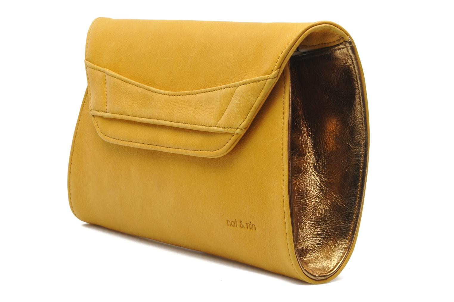 Clutch bags Nat & Nin Bastille Day Yellow model view