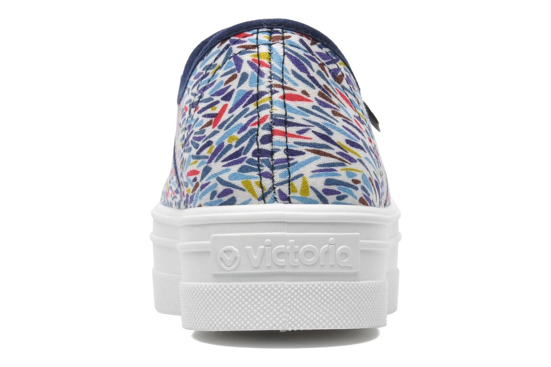 Baskets Victoria Inglesa Liberty Plataforma Multicolore vue droite