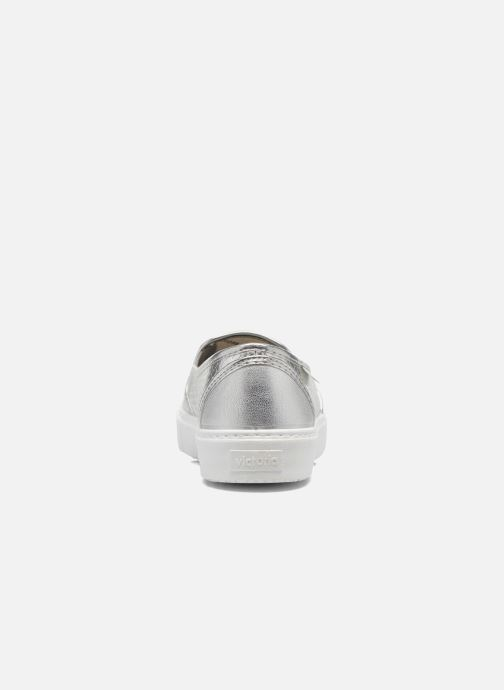 Baskets Victoria Slip-on Metalizada Argent vue droite