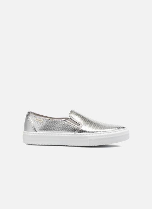 Sneakers Victoria Slip-on Metalizada Zilver achterkant