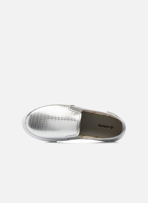 Sneakers Victoria Slip-on Metalizada Zilver links