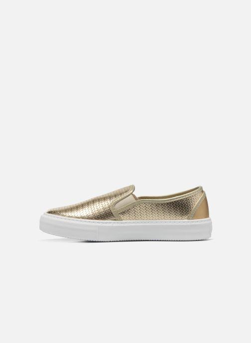 Sneakers Victoria Slip-on Metalizada Oro e bronzo immagine frontale