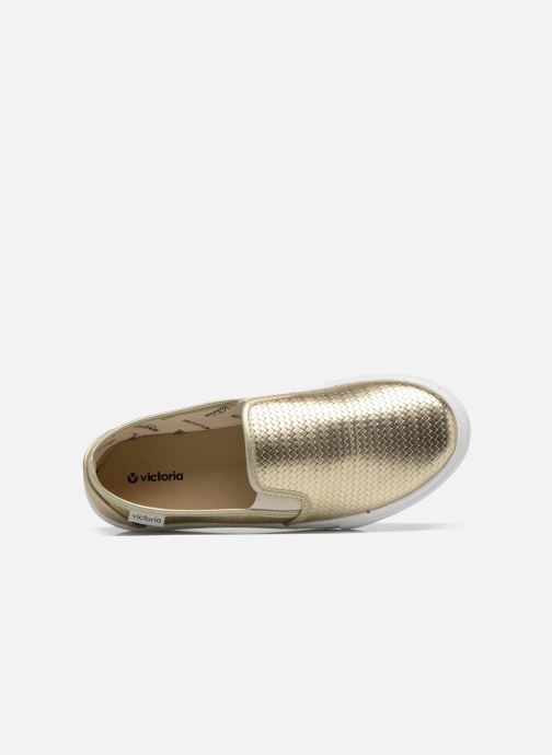 Sneakers Victoria Slip-on Metalizada Oro e bronzo immagine sinistra