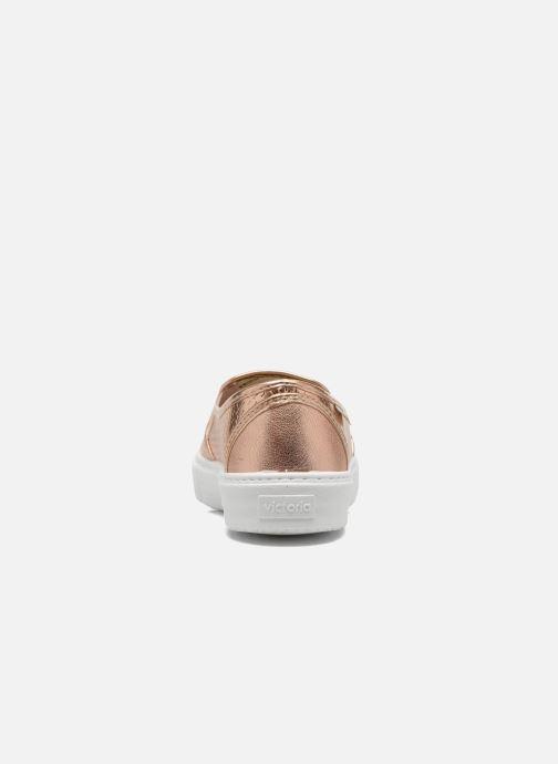 Sneakers Victoria Slip-on Metalizada Rosa immagine destra