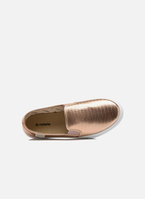 Baskets Victoria Slip-on Metalizada Rose vue gauche
